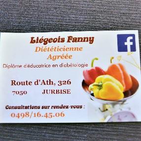 Liégeois  Fanny Diététicienne- Nutritionniste  JURBISE